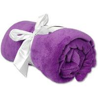 "Threadart Super Soft Plush Fleece Blankets, 11 Colors available, 50"" x 60"""