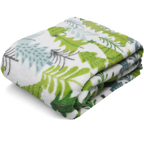 "Mainstays 50"" x 60"" Microplush Throw, Multiple Colors"