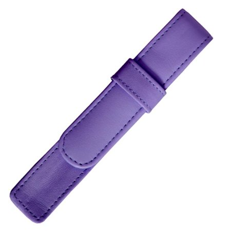 Royce Leather 914-PURPLE-6 Single Pen Case - Purple