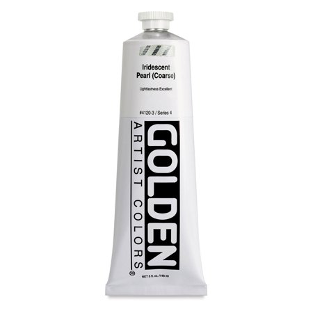Golden Heavy Body Acrylic Paint - Iridescent Pearl (Coarse), 5 oz tube