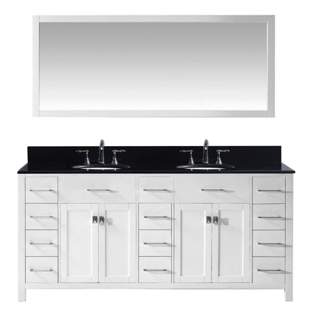 Virtu Md 2172 Bgro Wh 002 Caroline Parkway 72 Inch Double Bathroom Vanity Set In White