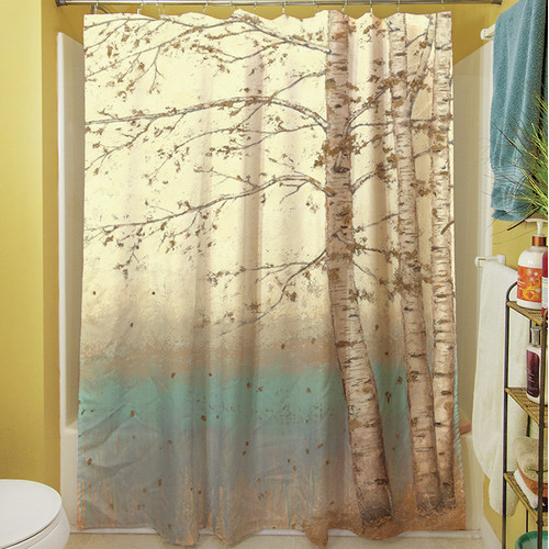 Manual Woodworkers & Weavers Golden Birch I Shower Curtain