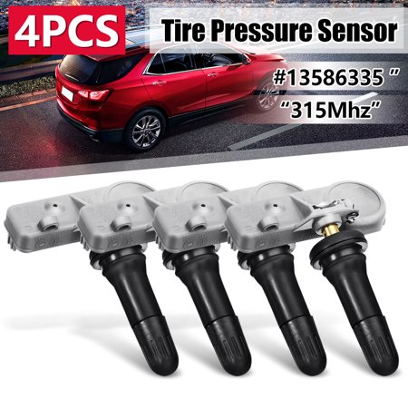 - 4Pcs For Chevy GMC 315MHz TPMS Tire Pressure Monitoring Sensor System #13586335 Universal US