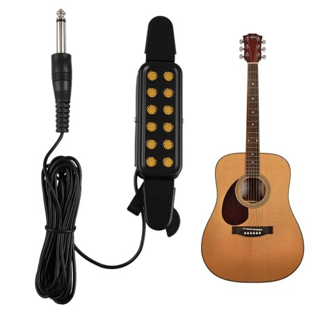 12 Hole Sound Pickup Acoustic/Electric Transducer Microphone Wire Amplifier Speaker for Acoustic Guitar