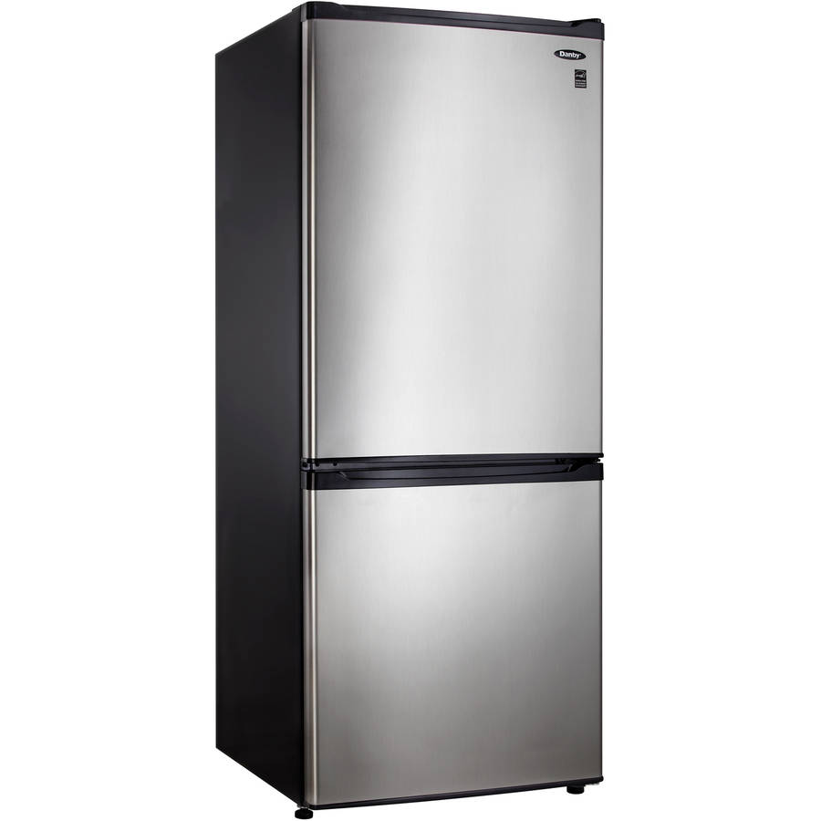 Danby 9.2 cu ft Bottom Mount Refrigerator, Black/Spotless Steel