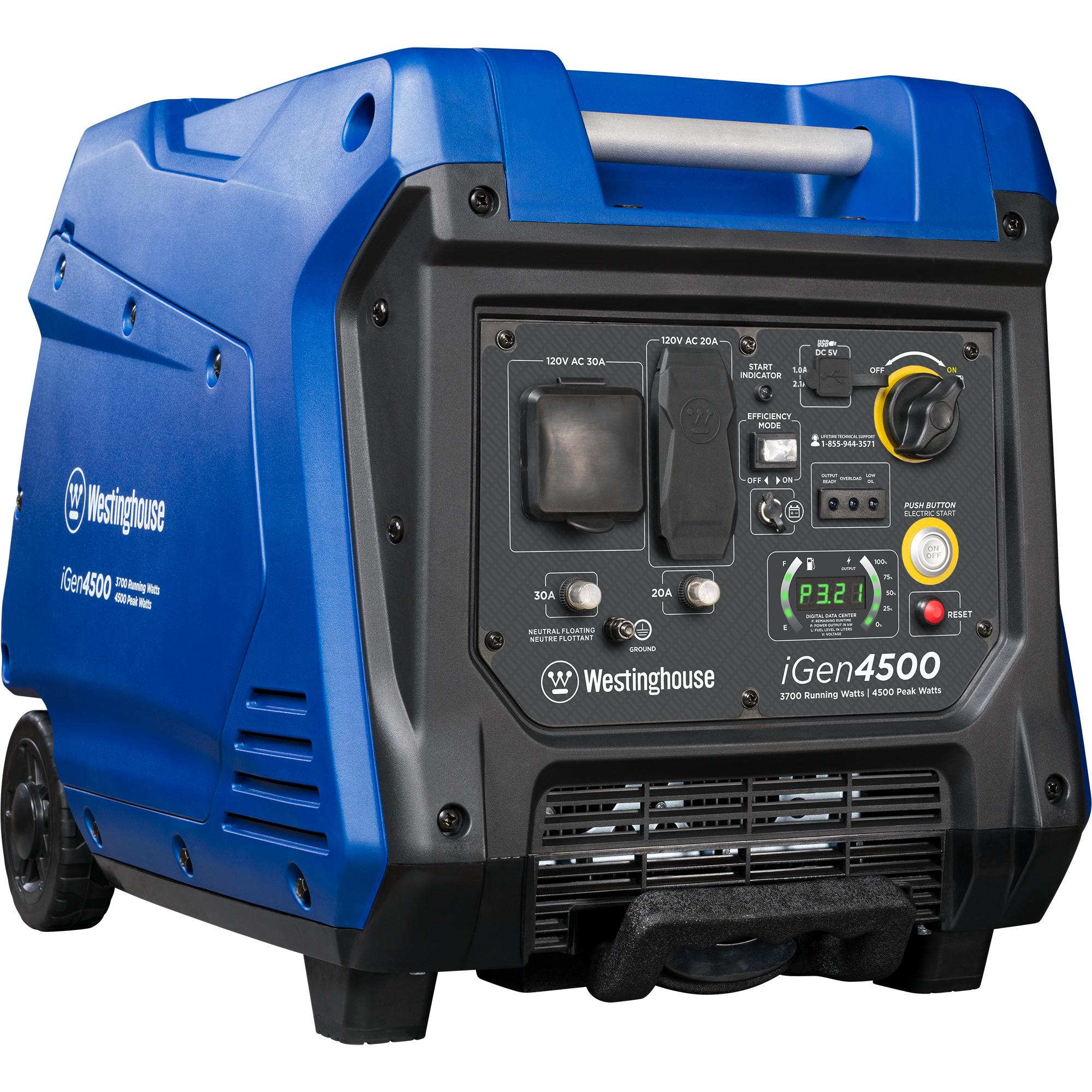 Westinghouse iGen4500 Gas Powered Portable Inverter Generator