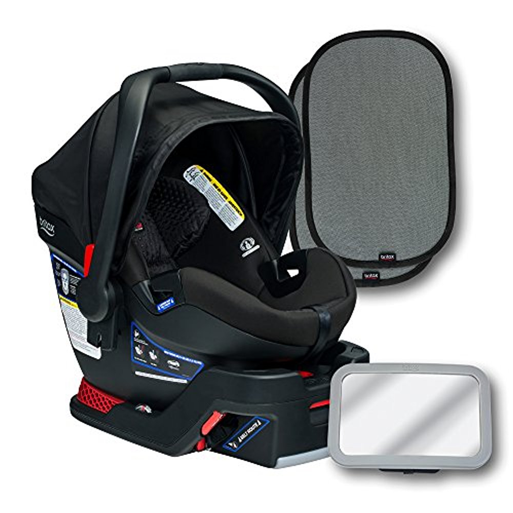 Britax B-Safe 35 Elite Infant Seat Bundle, Midnight
