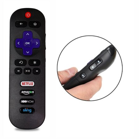 New RC280 Replace Remote fit for TCL ROKU Smart HDTV 28S3750 32FS3700 with HBONOW Amazon Netflix Sling (Halloween Tv Shows On Netflix)