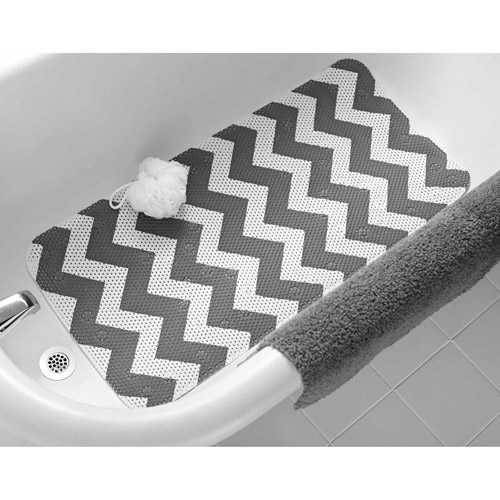Mainstays Softex Designer Cushion Bath Mat, Chevron