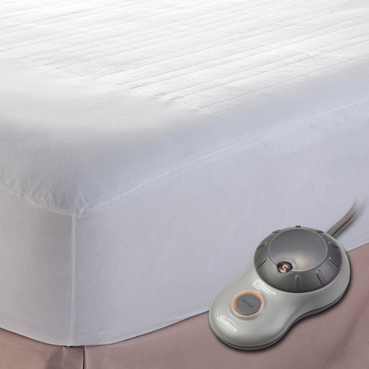 sunbeam electric mattress pad Sunbeam Quilted Heated Mattress Pad   Walmart.com sunbeam electric mattress pad
