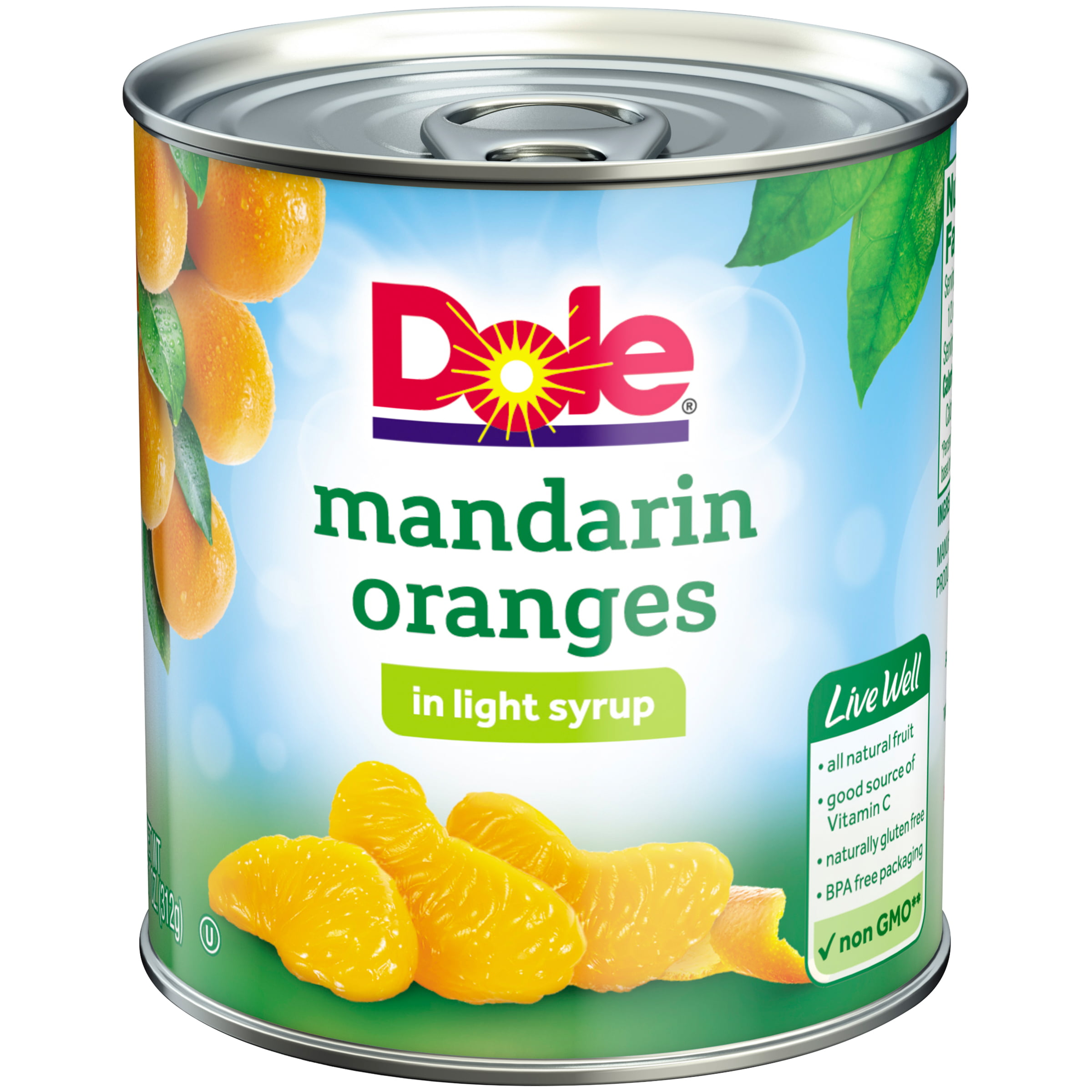 Dole Mandarin Oranges in Light Syrup 11 oz. Can