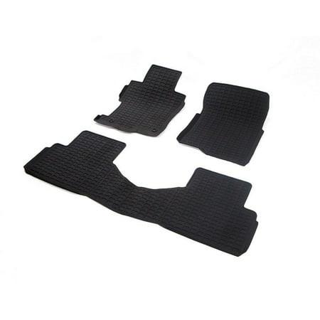 stardiamond all weather rubber floor mats 2008 2012 honda accord sedan black 3pc. Black Bedroom Furniture Sets. Home Design Ideas
