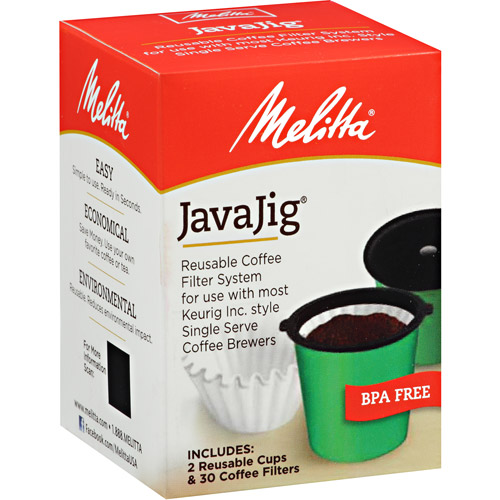 Melitta® JavaJig® K-Cups for Keurig K-Cup Brewers Reusable Coffee Filter System, Uses Melitta Paper Coffee Filters
