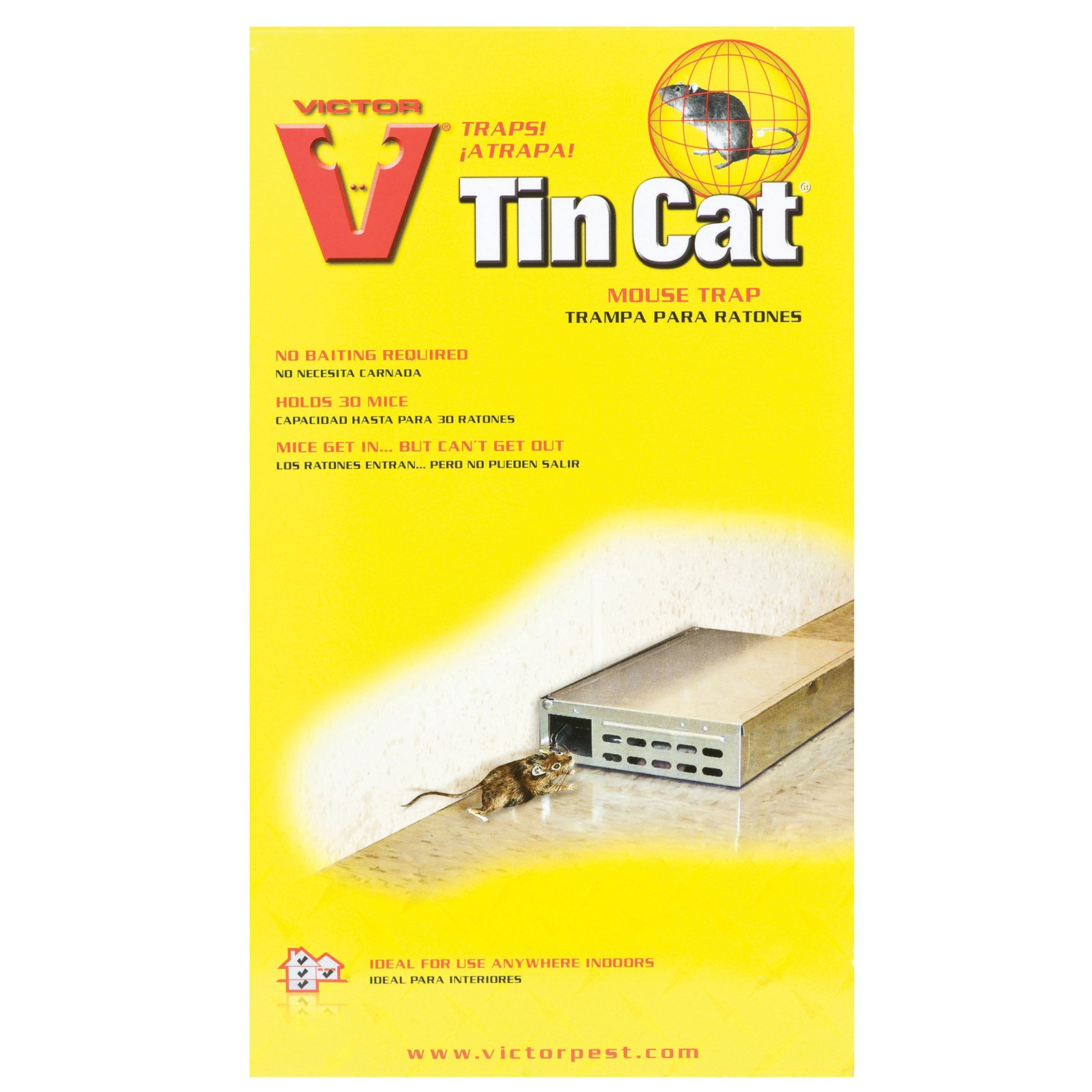 Victor M310S Tin Cat Live Catch Mouse Trap