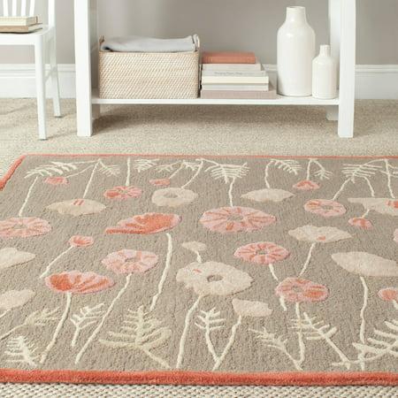 Safavieh martha stewart poppy glossary hand tufted area for Martha stewart rugs home decorators