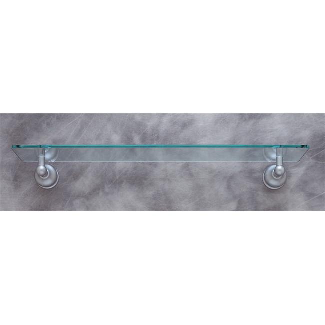 JVJHardware 23911 Liberty 22 inch Glass Shelf Concealed Screw - Matte Chrome