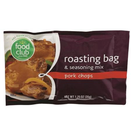 Seasoning Pork Chops Grill (Roasting Bag and seasoning mix, pork chops)