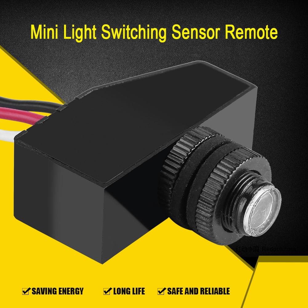 Yosoo Mini Light Switching Sensor Remote Photocell Dusk To
