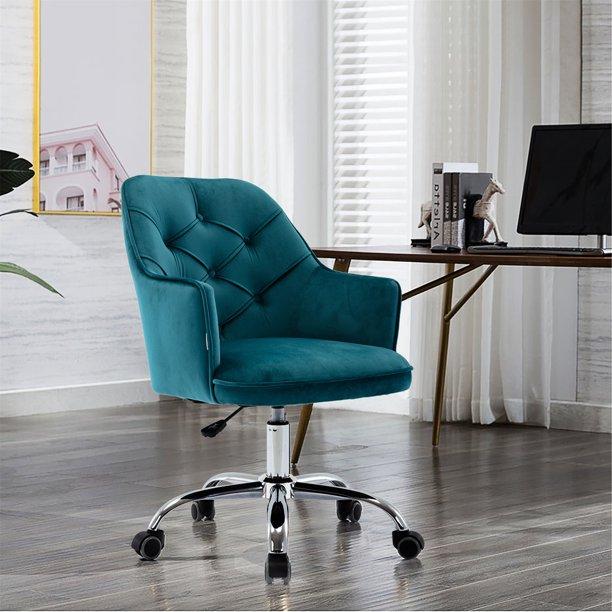 Adjustable lift seat Velvet Swivel Shell Chair for Living Room