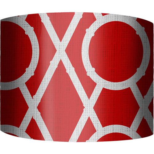 "12"" Drum Lampshade, X's and O's Red by"