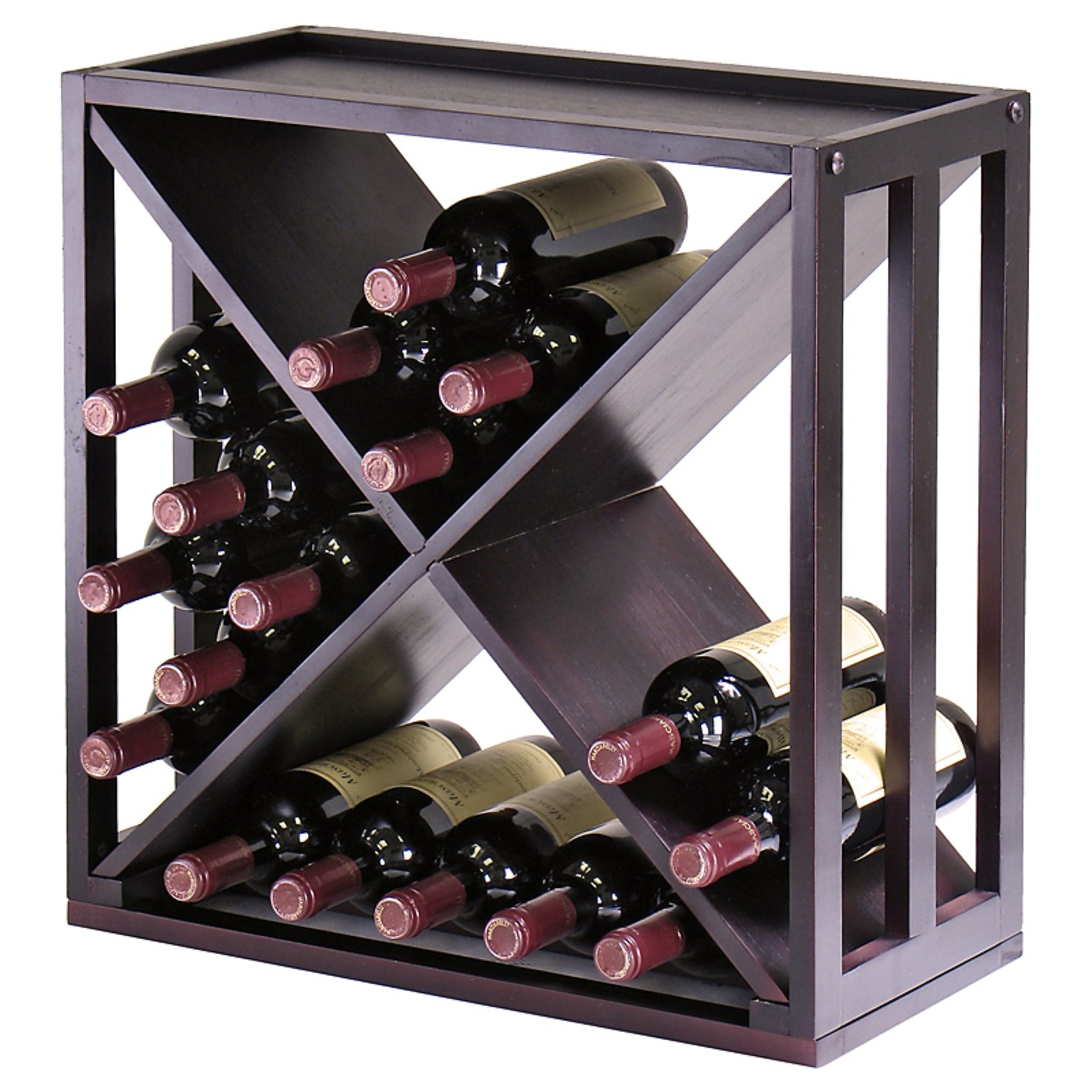"Kingston Modular ""X"" Cube, Holds 24 Bottles, Stackable"