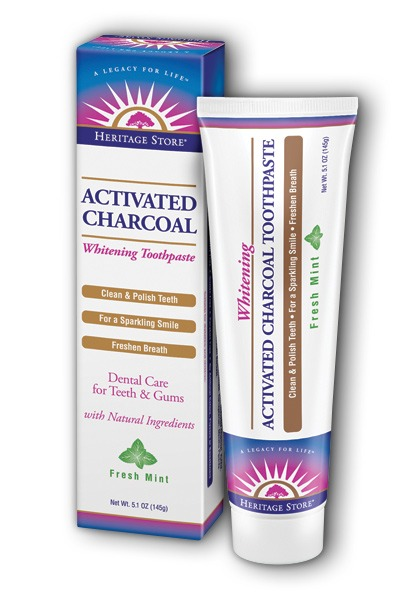 Activated Charcoal Toothpaste Mint Heritage Store 51 oz Paste