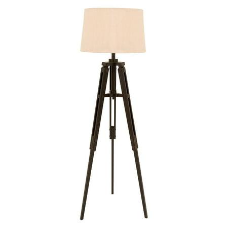 Decmode Wood Tripod Floor Lamp  Multi Color