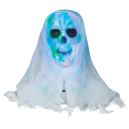 Skull Face Paintings For Halloween (Lightshow Skull Bust with White Face Halloween)