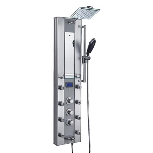 AKDY  51-inch Aluminum Shower Panel with Tower Massage Sp...