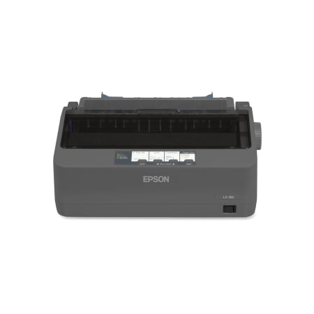 Epson LX-350 Dot Matrix Printer - Monochrome - 9-pin - 80 Column - 357 Mono - USB - Parallel - Serial USB 5PART WIN7-8/EPSON