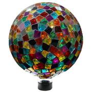 10 Inch Mosaic Gazing Globe - Red/Blue/Yellow