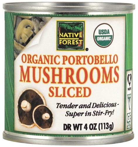 (6 Pack) Native Forest Portobello Mushrooms Sliced Organic, 4 Oz