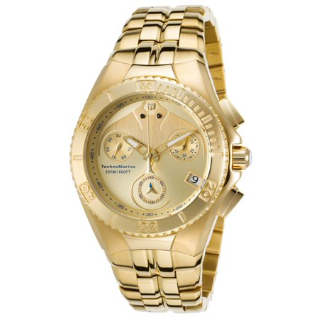 TM-115096 Men's Cruise Dream Chrono Gold Dial Yellow Gold Steel Bracelet Dive