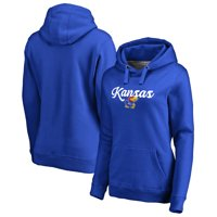 Kansas Jayhawks Fanatics Branded Women's Plus Sizes Freehand Pullover Hoodie - Royal
