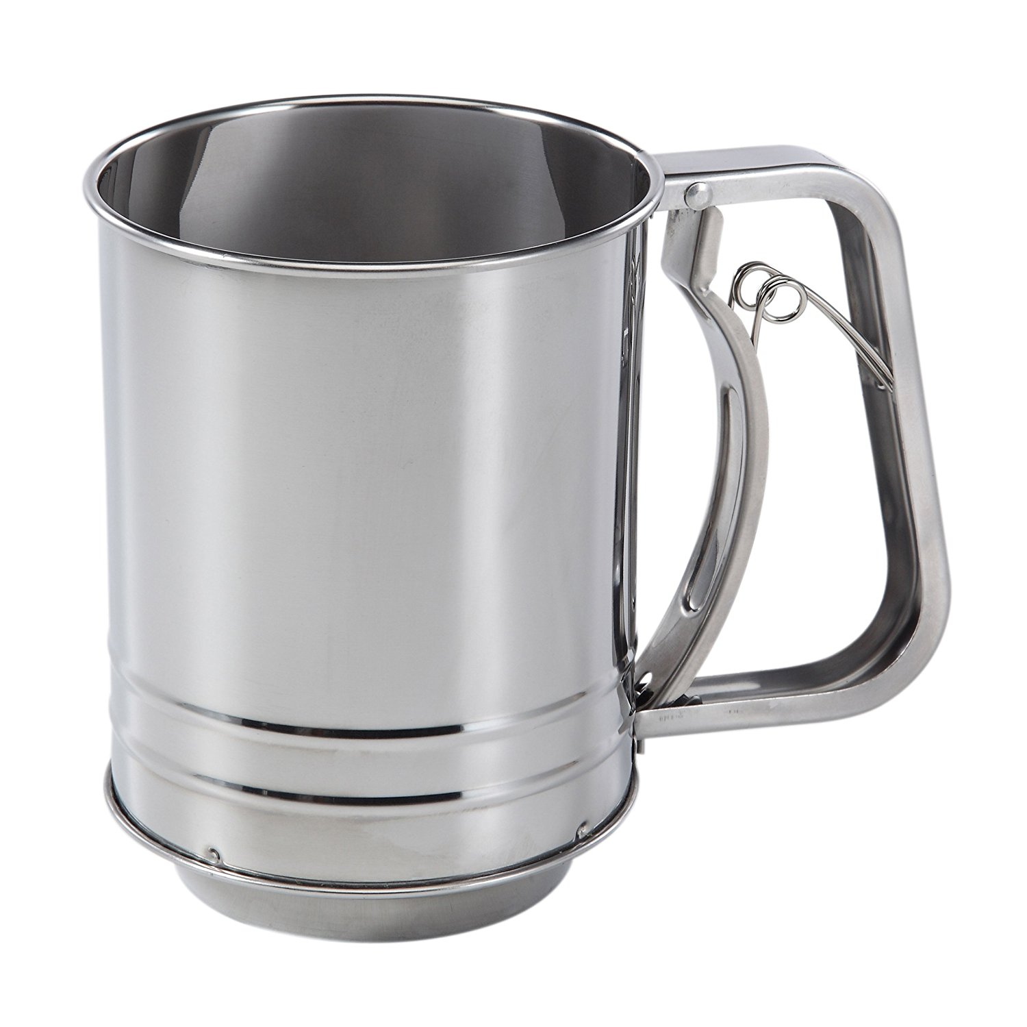 3-Cup Stainless Steel Flour Sifter Inquiries by email, Ship from USA,Brand Baker's Secret by