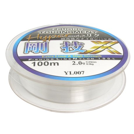Clear dia 9 0kg freshwater fishing line spool 328ft for Walmart fishing line