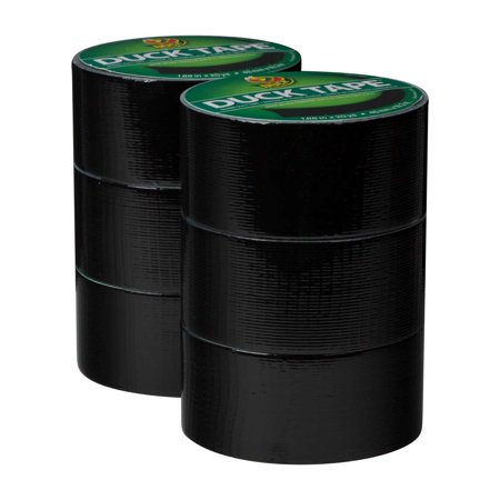 Duck Brand Duct Tape, 1.88 in. x 20 yds., Black, 6 Pack for $<!---->