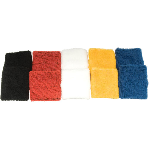Unique Colored Team Wristbands, 5-Pair