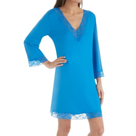 Women's Shadowline 65117 Before Bed 36 Inch Lace Trim (Bed Sleepshirt)
