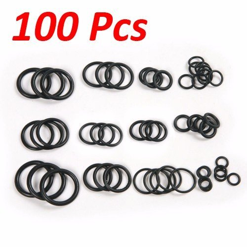 Wideskall® 100 Pcs Flexible Nitrile Rubber O Rings Washers Grommets Assortment