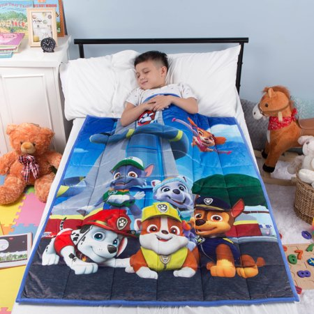 "PAW Patrol Kids Weighted Blanket, Super Soft Plush Bedding, 36"" x 48? 4.5lbs, Blue"