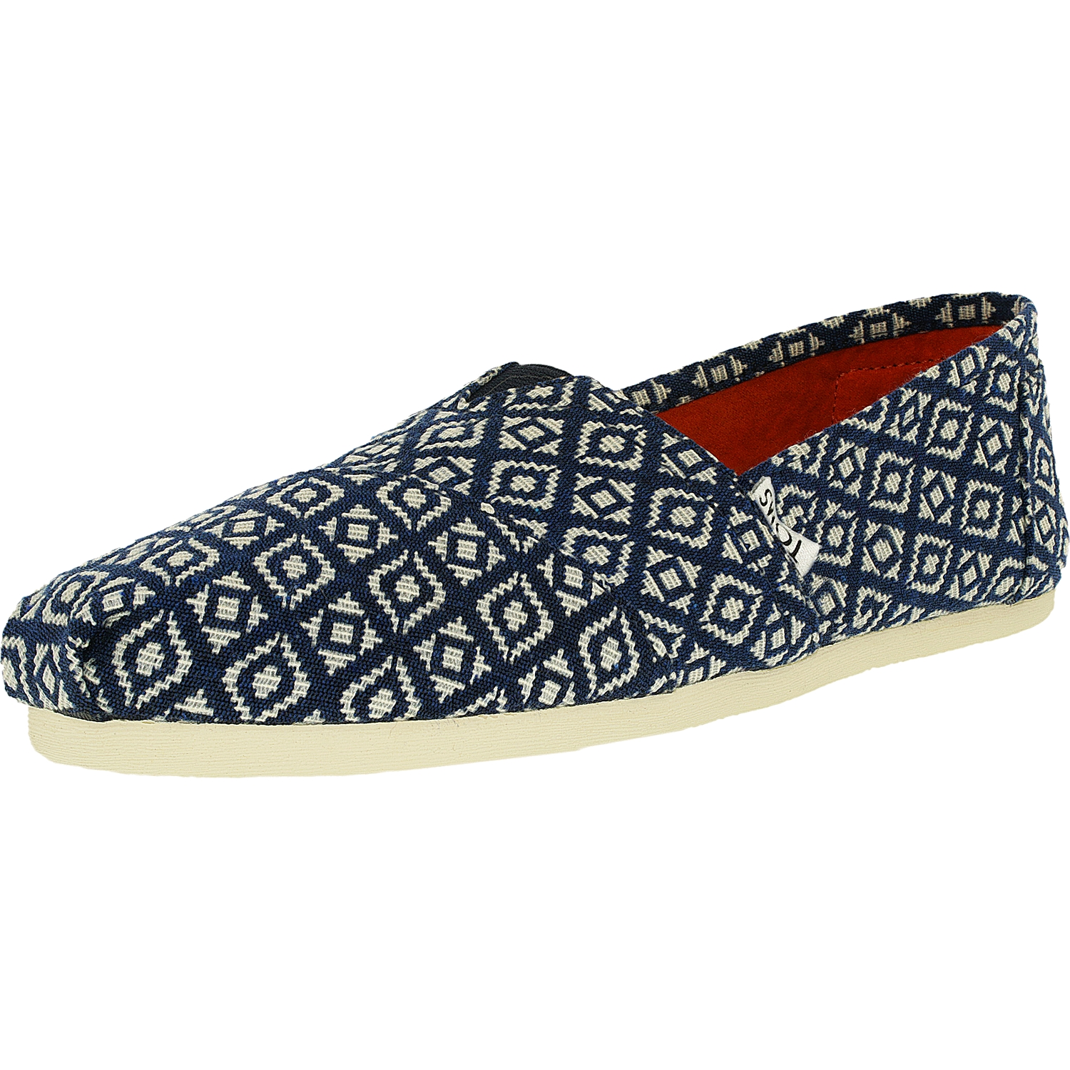 Toms Women's Classic Woven Ankle-High Satin Loafer