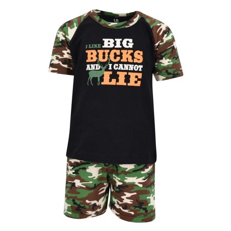 Unique Baby Boys I Like Big Bucks 2 Piece Father's Day Hunting Outfit (2T) - Zombie Diy Outfit