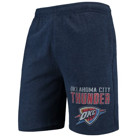 Oklahoma City Thunder Concepts Sport Squeeze Play Knit Shorts - Heathered Navy