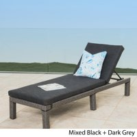 Christopher Knight Home Puerta Outdoor Adjustable Wicker Chaise Lounge with Cushion by  Grey
