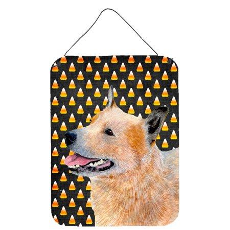 Australian Cattle Dog Candy Corn Halloween Portrait Wall or Door Hanging - Halloween Date Australia