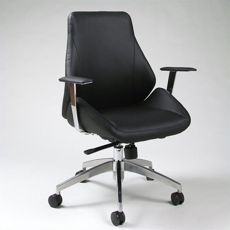 Pastel Furniture Isobella Office Chair in Black by Minson Corporation