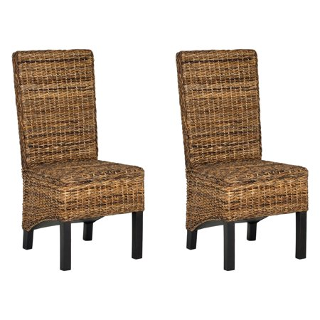Safavieh Pembrooke Wicker Dining Side Chairs - Natural - Set of 2