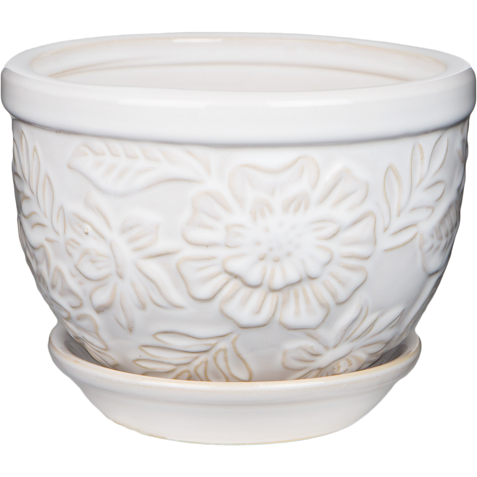 Pennington Ceramic Vintage Floral Pot Planter 6 Inch
