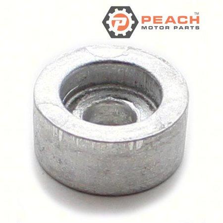 Peach Motor Parts PM-55321-87J01  PM-55321-87J01 Anode, Exhaust & Power Trim Aluminum; Replaces Suzuki®: 55321-87J01, (Suzuki Trim)